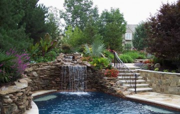 Design a Resort-Style Swimming Pool with Water Features